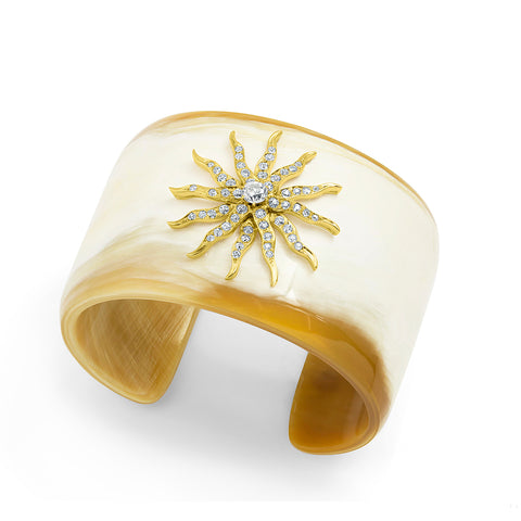 One-of-a-kind Horn Starburst Cuff Bracelet,  - Katherine & Josephine