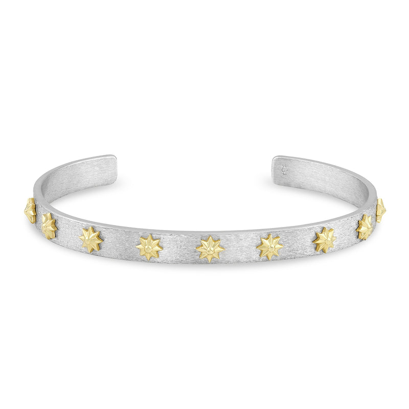 Raised Gold Star Cuff, Jewelry - Katherine & Josephine