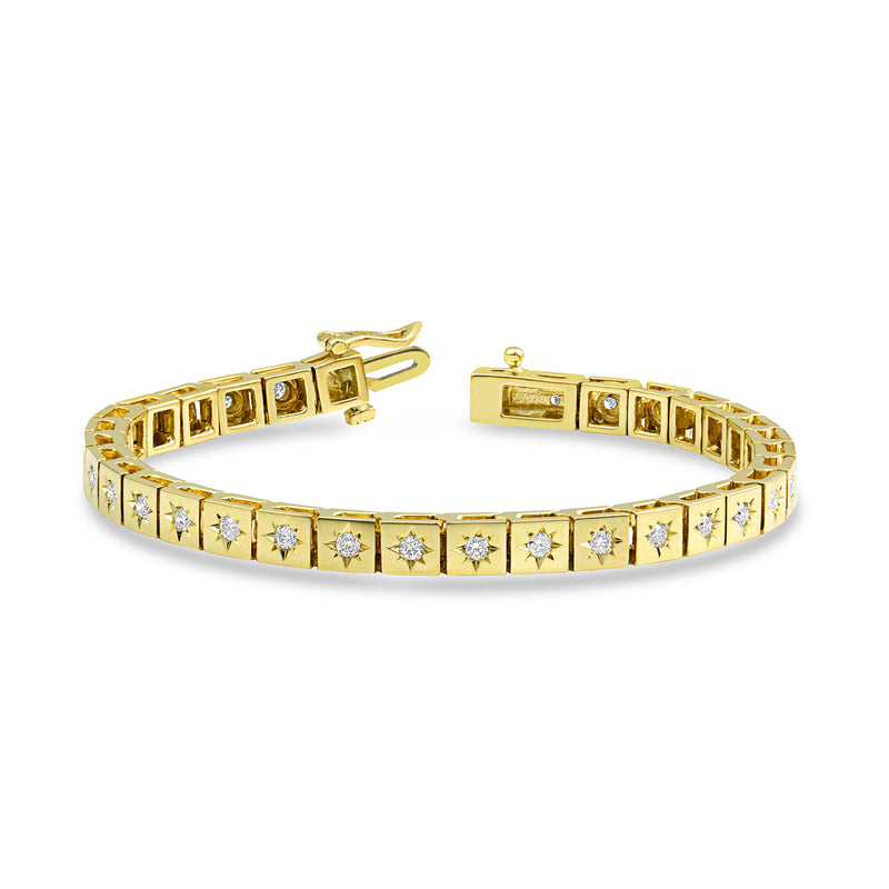 Gold Diamond Star Tennis Bracelet,  - Katherine & Josephine