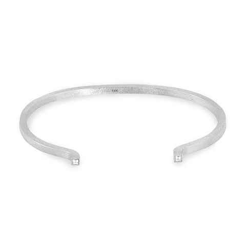 Sterling Silver Square Solid Tube Cuff, Jewelry - Katherine & Josephine