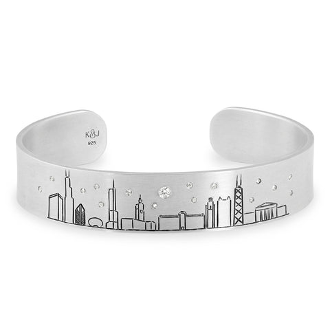 Chicago Skyline Cuff, Jewelry - Katherine & Josephine