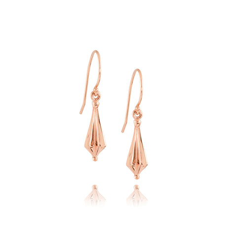Rose Gold Star Drop Earrings