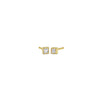 Gold French Cut Diamond Studs, Jewelry - Katherine & Josephine