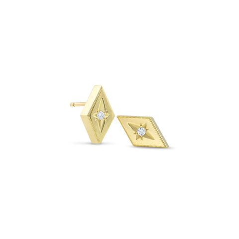 Yellow Gold Kite Shape Star Studs