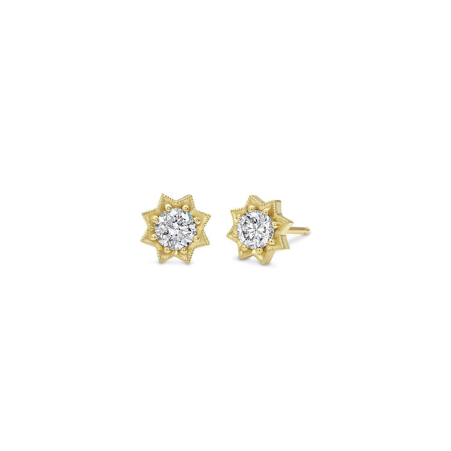 Gold Diamond Star Studs,  - Katherine & Josephine