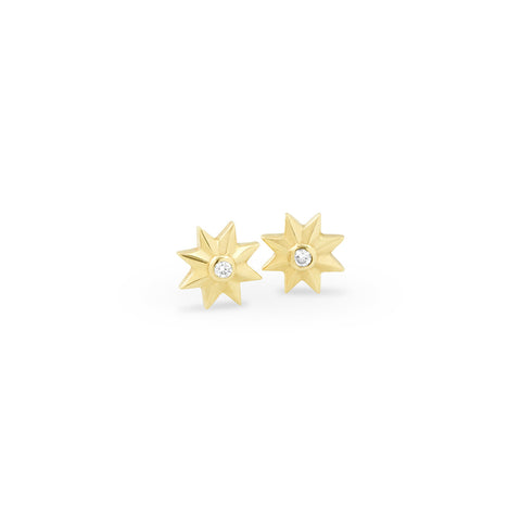 Large Gold Star Studs, Jewelry - Katherine & Josephine