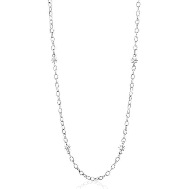 Gold Star Link Chain Necklace, Jewelry - Katherine & Josephine