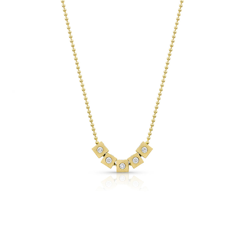 Gold Floating Diamond Necklace,  - Katherine & Josephine