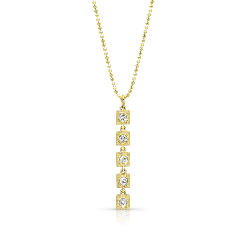 Gold Linear Diamond Link Necklace,  - Katherine & Josephine