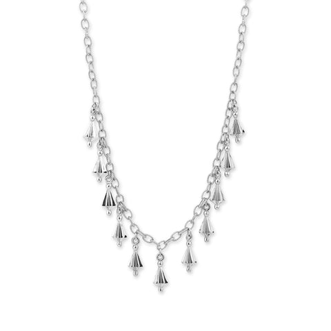 White Gold Star Drop Necklace,  - Katherine & Josephine