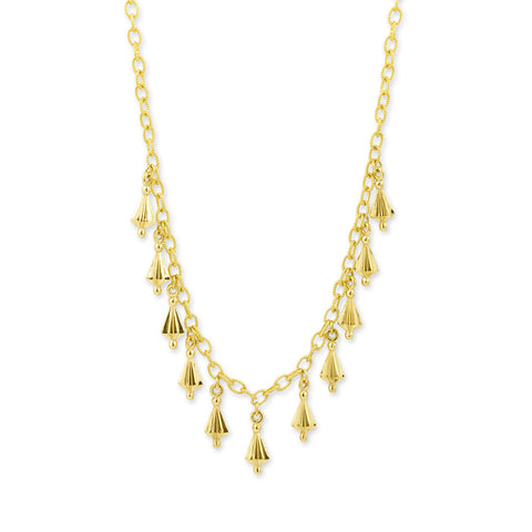 Yellow Gold Star Drop Necklace,  - Katherine & Josephine