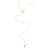 "Gold Star Drop ""Y"" Necklace, Jewelry - Katherine & Josephine"