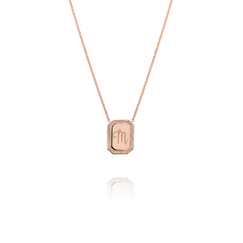Rose Gold Initial Necklace, Jewelry - Katherine & Josephine