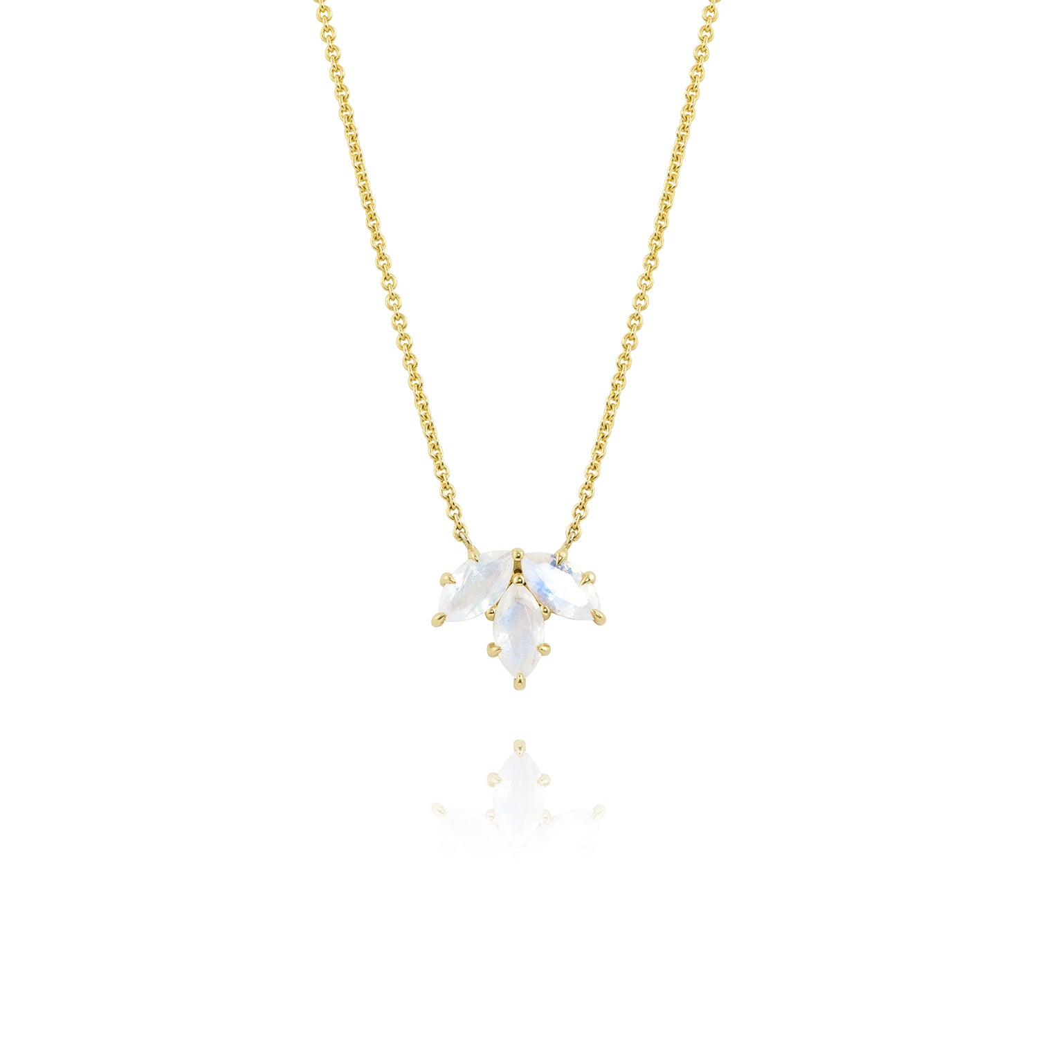 Yellow Gold Small Bouquet Necklace, Jewelry - Katherine & Josephine