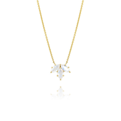 Yellow Gold Small Bouquet Necklace