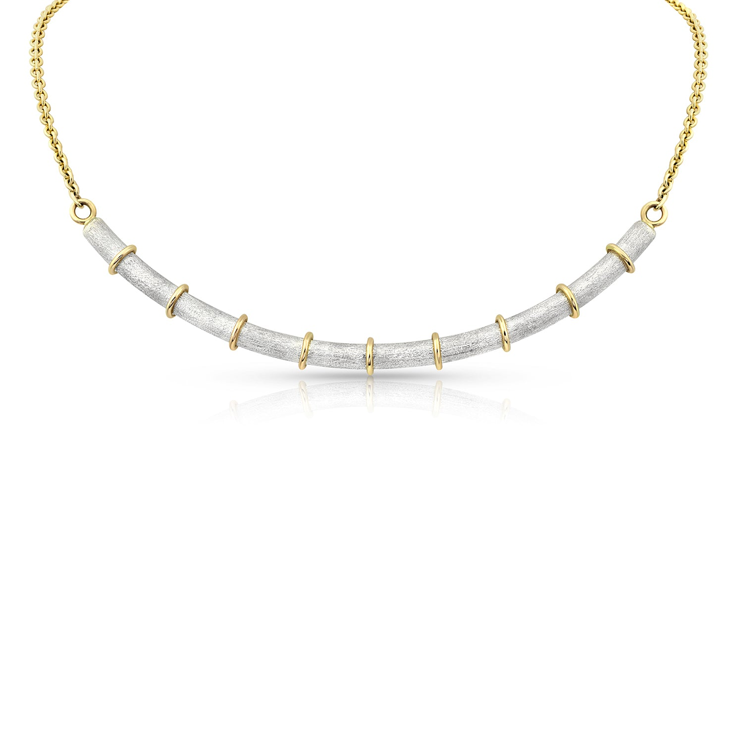Sterling Silver and Gold Bamboo Necklace,  - Katherine & Josephine