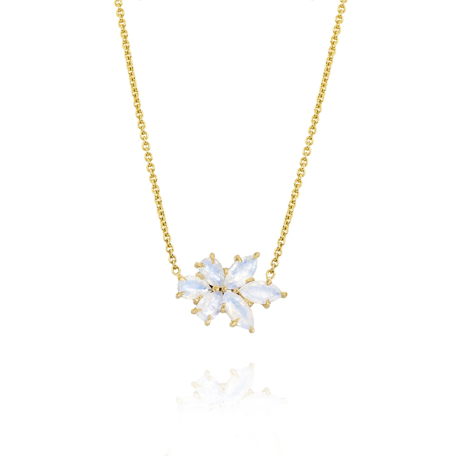Gold Medium Bouquet Necklace, Jewelry - Katherine & Josephine