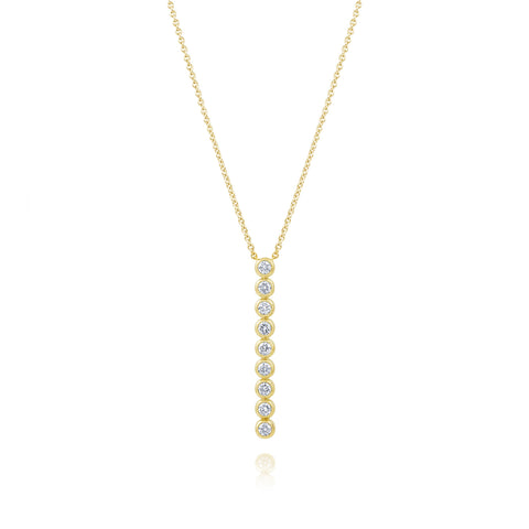 Yellow Gold RBC Bar Necklace
