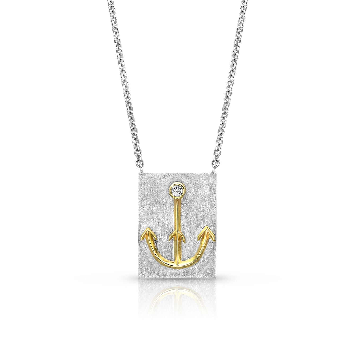 Silver & Gold Anchor Necklace,  - Katherine & Josephine