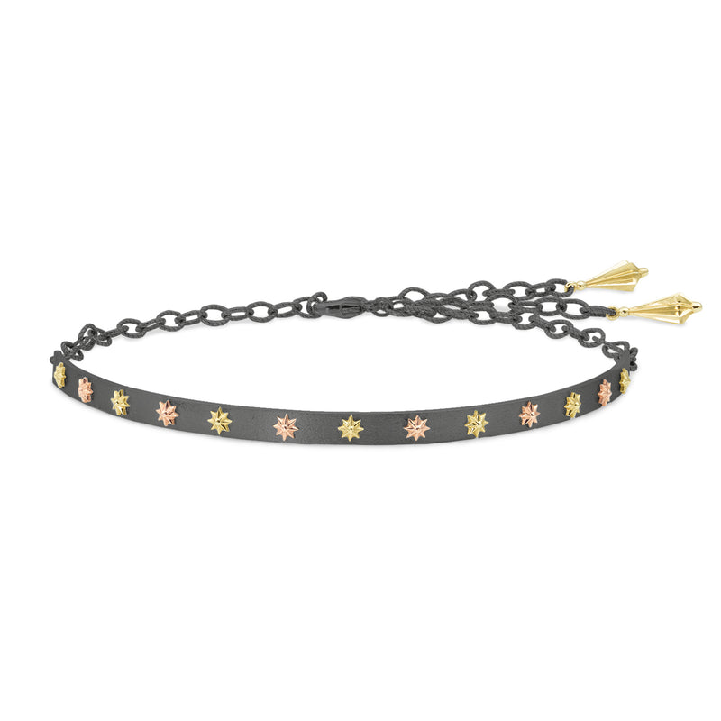 Sterling Silver & Raised Gold Star Choker, Jewelry - Katherine & Josephine