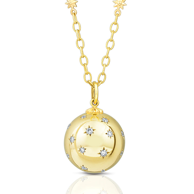 Gold Star Link & Ball Necklace, Jewelry - Katherine & Josephine