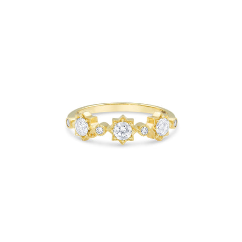 Gold Diamond Star Stacking Band, Jewelry - Katherine & Josephine