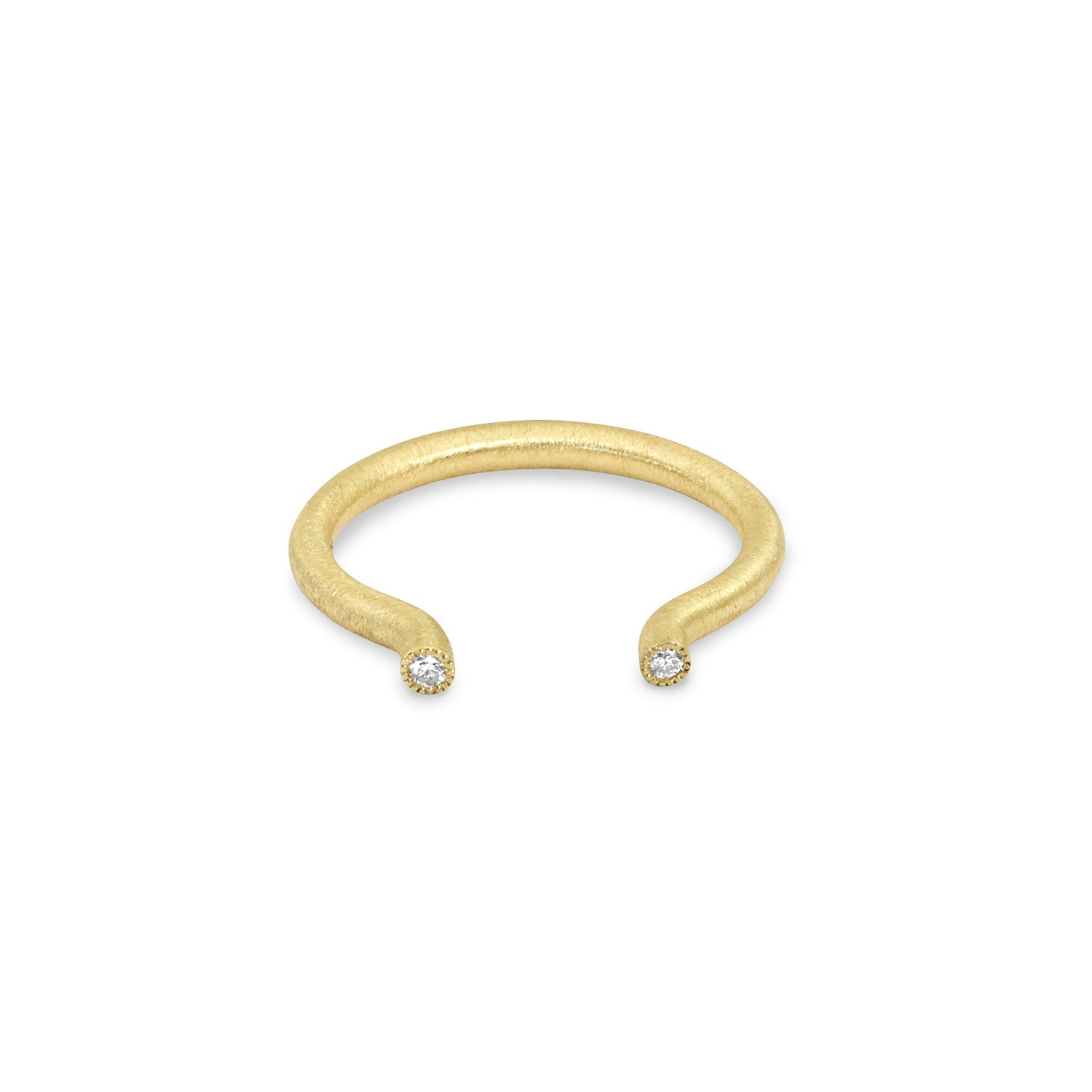 Small Gauge Round Solid Tube Ring, Jewelry - Katherine & Josephine