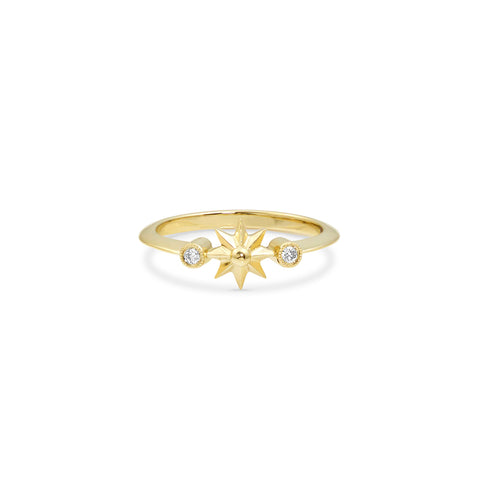 Gold Single Star Ring, Jewelry - Katherine & Josephine