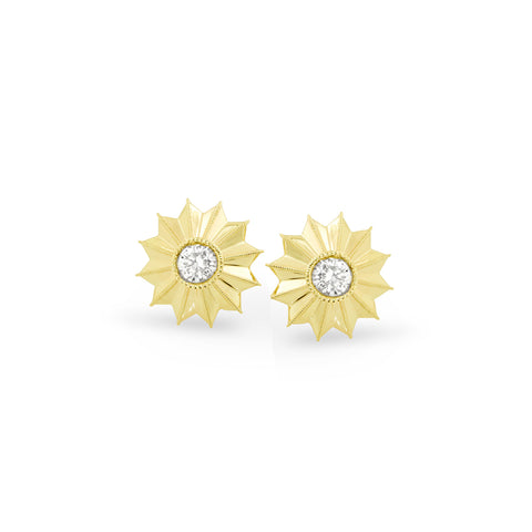 Gold Ray Burst Earrings, Jewelry - Katherine & Josephine