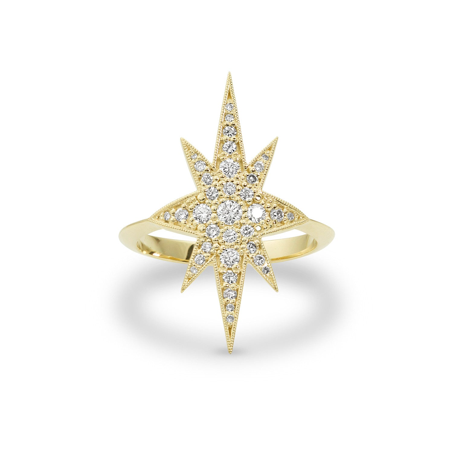Gold Elongated Star Ring, Jewelry - Katherine & Josephine