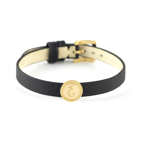 Gold Single Initial Bracelet or Choker, Jewelry - Katherine & Josephine