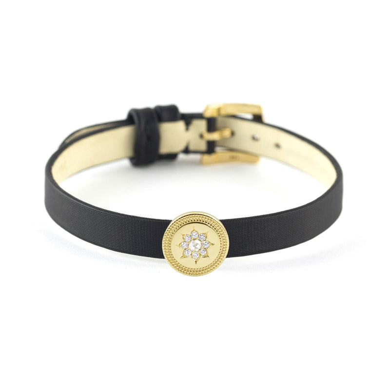 Gold & Diamond Sun Slide Bracelet or Choker, Jewelry - Katherine & Josephine