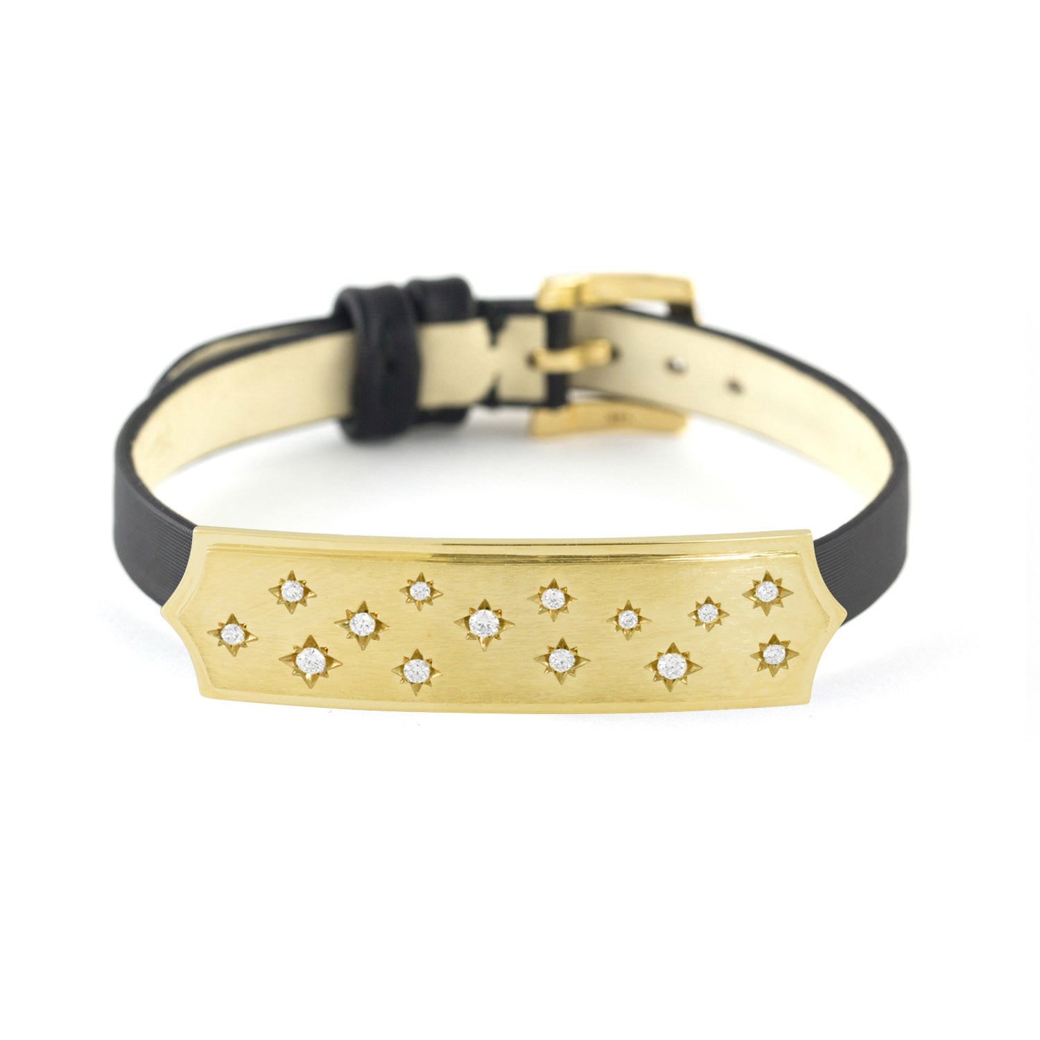 Gold Starred Bar Bracelet or Choker, Jewelry - Katherine & Josephine