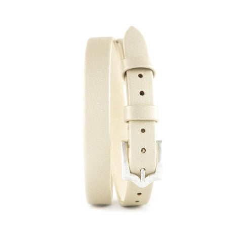 Light Beige Techno Satin Double Wrap Strap, Jewelry - Katherine & Josephine