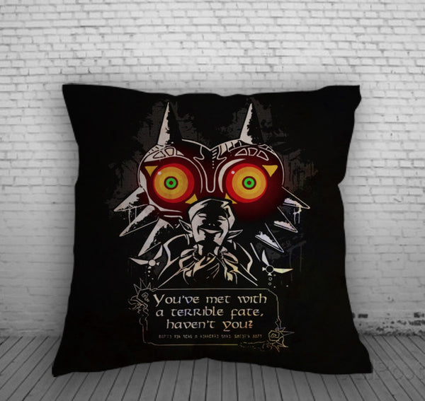 The Legend of Zelda Majoras Mask Poster Pillow, Pillow Case, Pillow Cover, 16 x 16 Inch One Side, 16 x 16 Inch Two Side, 18 x 18 Inch One Side, 18 x 18 Inch Two Side, 20 x 20 Inch One Side, 20 x 20 Inch Two Side