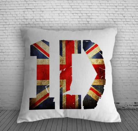 1D one direction britain flag Pillow, Pillow Case, Pillow Cover, 16 x 16 Inch One Side, 16 x 16 Inch Two Side, 18 x 18 Inch One Side, 18 x 18 Inch Two Side, 20 x 20 Inch One Side, 20 x 20 Inch Two Side