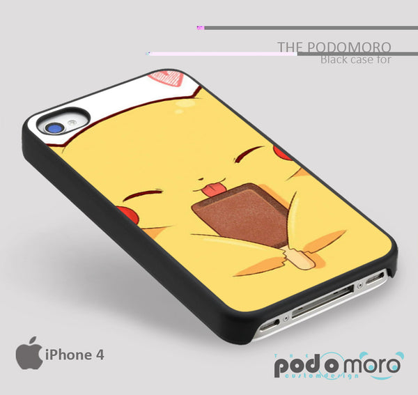 Pikachu Sweet es Cream for iPhone 4/4S, iPhone 5/5S, iPhone 5c, iPhone 6, iPhone 6 Plus, iPod 4, iPod 5, Samsung Galaxy S3, Galaxy S4, Galaxy S5, Galaxy S6, Samsung Galaxy Note 3, Galaxy Note 4, Phone Case