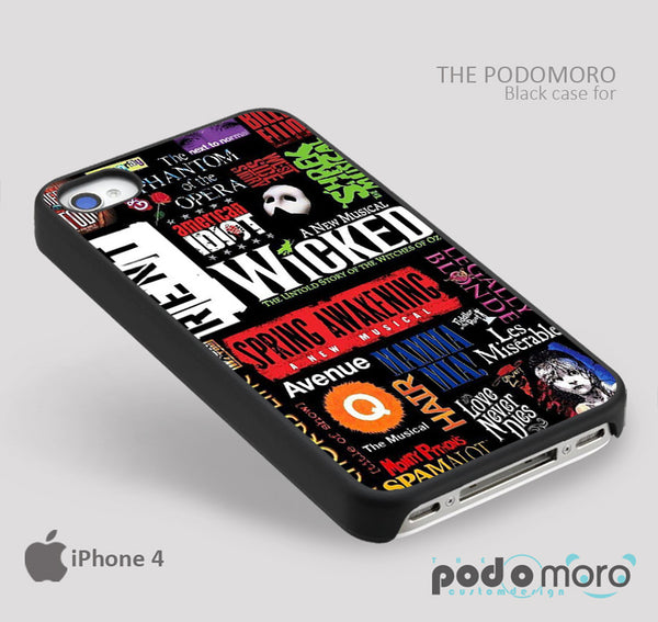 Broadway Wicked for iPhone 4/4S, iPhone 5/5S, iPhone 5c, iPhone 6, iPhone 6 Plus, iPod 4, iPod 5, Samsung Galaxy S3, Galaxy S4, Galaxy S5, Galaxy S6, Samsung Galaxy Note 3, Galaxy Note 4, Phone Case
