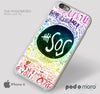 5 Second of Summer Lyrics Rainbow for iPhone 4/4S, iPhone 5/5S, iPhone 5c, iPhone 6, iPhone 6 Plus, iPod 4, iPod 5, Samsung Galaxy S3, Galaxy S4, Galaxy S5, Galaxy S6, Samsung Galaxy Note 3, Galaxy Note 4, Phone Case
