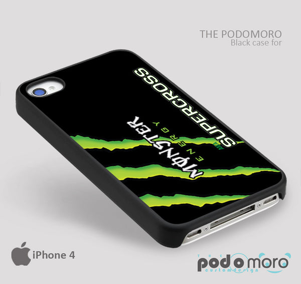 Monster Energy Supercross for iPhone 4/4S, iPhone 5/5S, iPhone 5c, iPhone 6, iPhone 6 Plus, iPod 4, iPod 5, Samsung Galaxy S3, Galaxy S4, Galaxy S5, Galaxy S6, Samsung Galaxy Note 3, Galaxy Note 4, Phone Case
