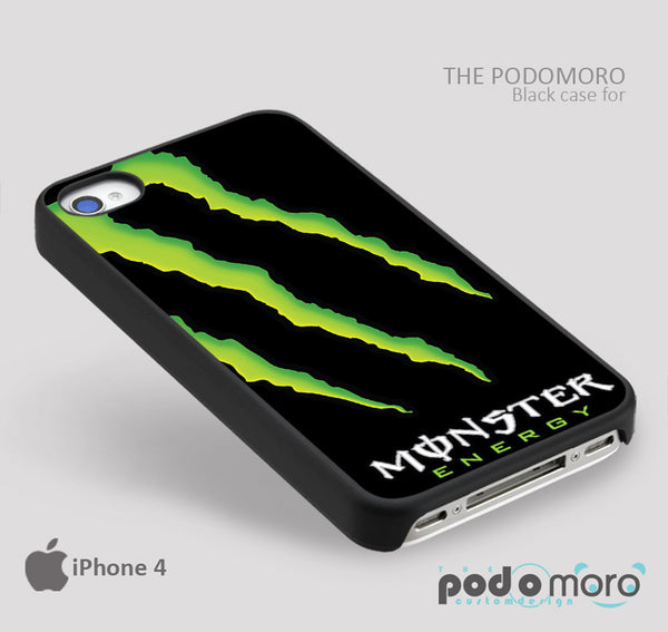 Monster Energy for iPhone 4/4S, iPhone 5/5S, iPhone 5c, iPhone 6, iPhone 6 Plus, iPod 4, iPod 5, Samsung Galaxy S3, Galaxy S4, Galaxy S5, Galaxy S6, Samsung Galaxy Note 3, Galaxy Note 4, Phone Case