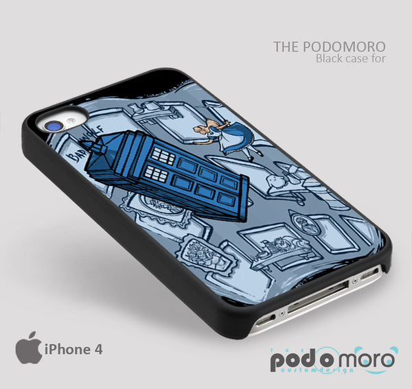 Tardis and Alice in wonderland for iPhone 4/4S, iPhone 5/5S, iPhone 5c, iPhone 6, iPhone 6 Plus, iPod 4, iPod 5, Samsung Galaxy S3, Galaxy S4, Galaxy S5, Galaxy S6, Samsung Galaxy Note 3, Galaxy Note 4, Phone Case
