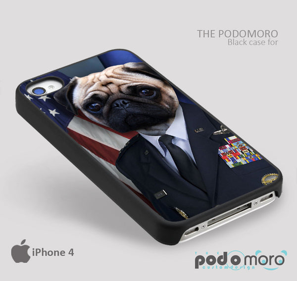 Sargeant Pug for iPhone 4/4S, iPhone 5/5S, iPhone 5c, iPhone 6, iPhone 6 Plus, iPod 4, iPod 5, Samsung Galaxy S3, Galaxy S4, Galaxy S5, Galaxy S6, Samsung Galaxy Note 3, Galaxy Note 4, Phone Case