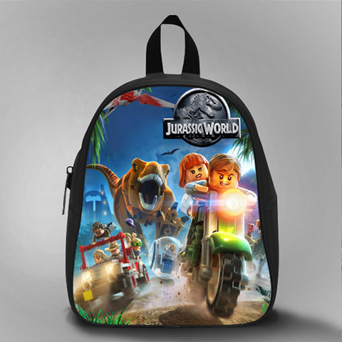 Lego Jurassic World, School Bag Kids, Large Size, Medium Size, Small Size, Red, White, Deep Sky Blue, Black, Light Salmon Color
