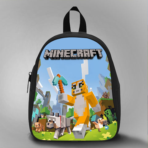 Mr Stampy Cat Mine, School Bag Kids, Large Size, Medium Size, Small Size, Red, White, Deep Sky Blue, Black, Light Salmon Color