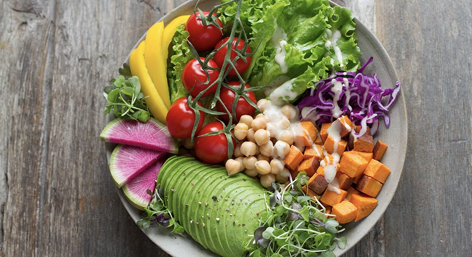 Colourful food for gut health