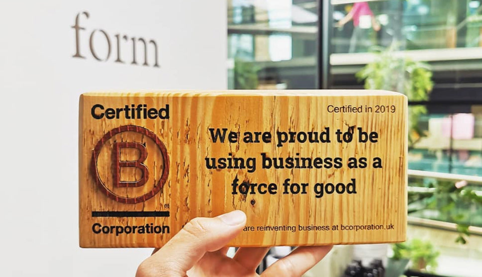 form nutrition b corp