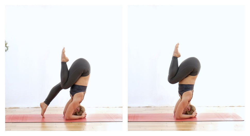 Balance during yoga headstand