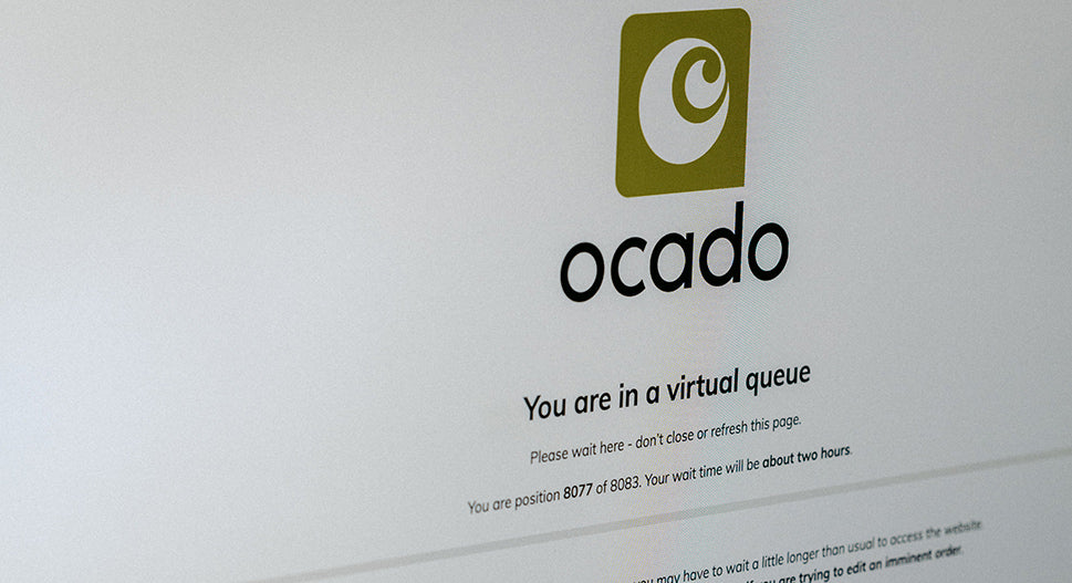 Ocado virtual queue during lockdown