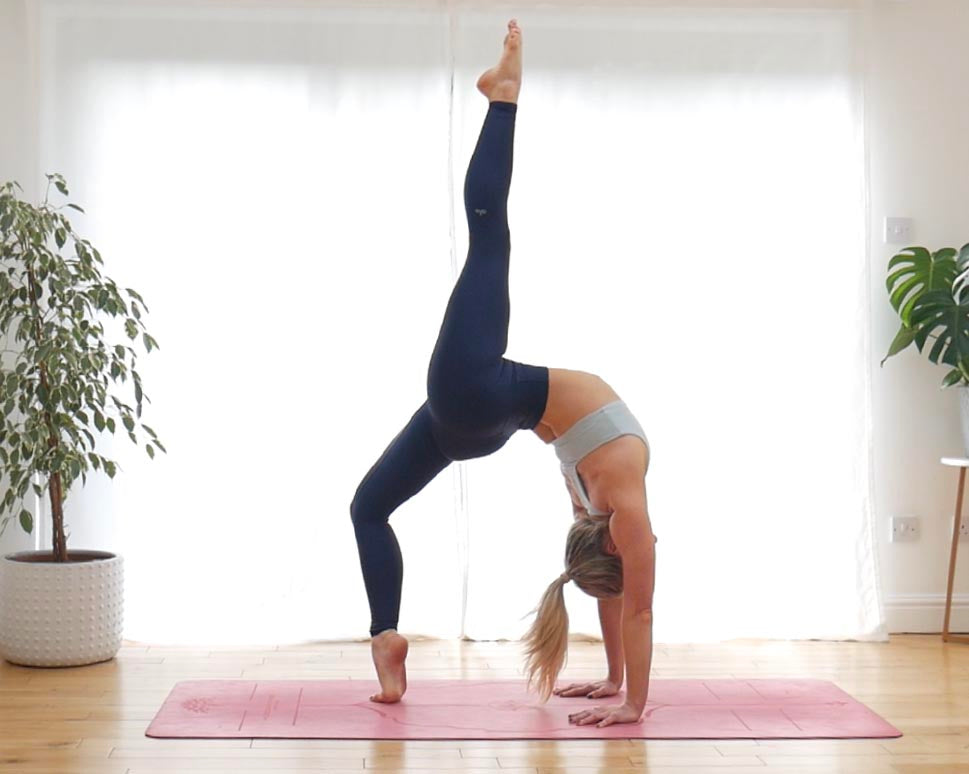 Advanced yoga single leg wheel pose